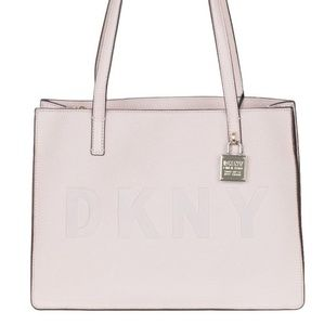 DKNY commuter leather Logo tote bag Blush NEW!